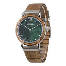 Recentste Ce van de Levering van de Fabriek van het Ontwerp direct voorbij de Groene Marmeren Horloges van de Gift van het Staal van de Mengeling van de Kleuren van de Verscheidenheid van de Manchet van de Spaander van Japan van het Gezicht Mechanische Houten