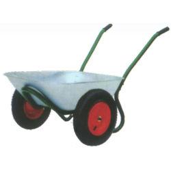 Herramientas de jardín 65L 5cbf dos ruedas de goma pesada carretilla 160kg de capacidad de carga