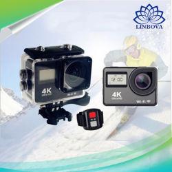 接触二重スクリーンのWiFiのリモコンの動きのカメラ防水HD DV
