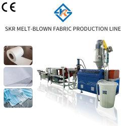 Configuración de la línea de producción de tejido Melt-Blown 600mm línea de extrusión de plástico de la máquina la máquina