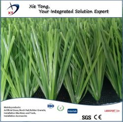 茎のファイバーの形総合的な泥炭のサッカーの合成物質の草8年の保証のフットボールの