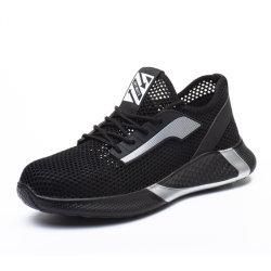Type de sport léger et résistant aux chaussures en cuir pour hommes de la sécurité de l'été