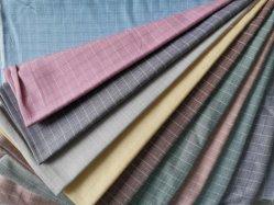 Kleding Polyester katoen W1 Slub Checks Shirt Fabric