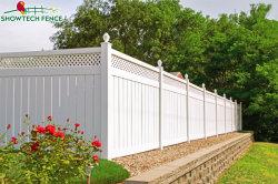 Largement utilisé 6'H/8'w Lattice-Top Clôtures de jardin en PVC Vinyl de la vie privée