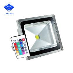 Buiten Inrichtingen buiten RGB LEIDENE van de Veiligheid van de Muur Lamp van de Reflector van de Beste Lichten van de Vloed 50W 100W 150W 200W RGB