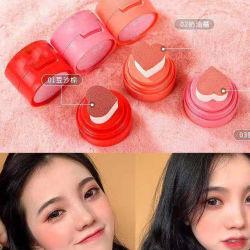 Marca personalizada Almofada de ar vermelhidão Coração Corar Líquido Clarear Rosa Natural vermelho alaranjado Rosto Contorno irreverente compõem Blusher