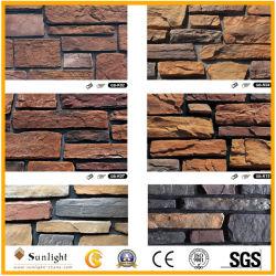 Comercio al por mayor flexibilidad natural amarillo/gris pizarra chapa exterior de piedra de paneles de pared