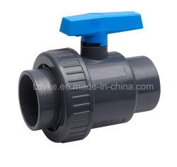 De plastic Kogelklep van de Unie van pvc Enige Voor Pool die met ISO9001 zwemmen (ANSI, SCH80)