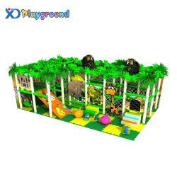 Jungle parc à thème Preschool utilisé des enfants d'équipements de terrain de jeux intérieure