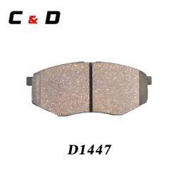 Alquiler de piezas de repuesto D1447 Pastillas de freno de cerámica para Hyundai KIA (58101-2SA00)