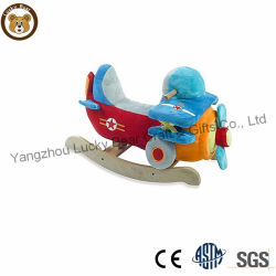 Hotsale sillas de animales de peluche caballito de madera juguete
