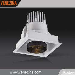 Réglable 25W de haute qualité CREE LED Dali Downlight carré à intensité réglable