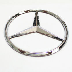 Emblema de carro de troncos Estrela cromado Badge MB100 emblema da cabeça