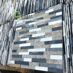 Noir/gris/vert/bleu ardoise/granit naturel/Quartzite revêtement de mur de pierre de la Culture