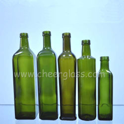 250 мл/1000 мл зеленый цвет стеклянной бутылки оливкового масла