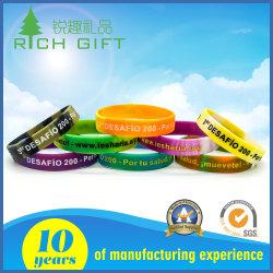 Cmjn colorés personnalisé de haute qualité imprimées en PVC de Fitness Sport en silicone élastique Bracelet Bracelet pour cadeau de promotion de la fluorescence