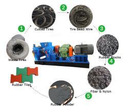 Pneu Preço máquina de reciclagem de resíduos /Triturador de grânulos de máquina de reciclagem de pneus