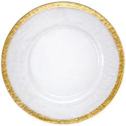 13 '' Glassilbernes Tafelgeschirr der aufladeeinheits-Platten-1.1cm für Hochzeit