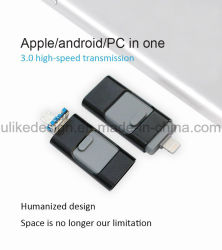 3 en 1 OTG pen drive lecteur Flash USB pour iPhone/ios/téléphone Android Tablet PC/disque à mémoire Flash 32 Go 64 Go