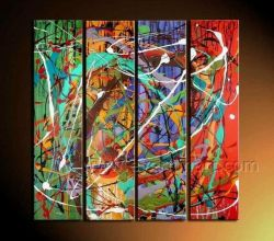 Het moderne Abstracte Olieverfschilderij van het Canvas voor Decor (XD4-223)