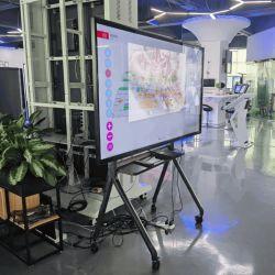 Lavagna bianca Smart Digital interattiva a infrarossi da 75 pollici per aula