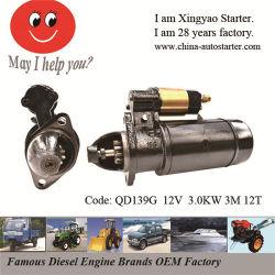 Démarrage du moteur de cylindre unique pour la marche du tracteur (QD139G)