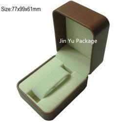Eleganter kundenspezifischer lederner Geschenk-Uhr-Schmucksache-Paket-Kasten-Plastikkasten