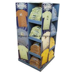 Kundenspezifische Cmyk gewölbtes Papier-Kleidungs-Ausstellungsstand-Insel-Bildschirmanzeigen