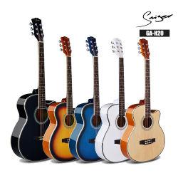 China Factory 40 Polegadas Basswood Smiger Ga-H20 violão acústico