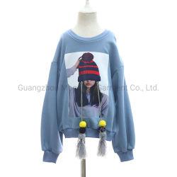 Slacciar sopra la maglietta felpata stampata modo dei bambini dei capretti di misura per i vestiti dei ragazzi delle ragazze