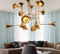 De binnen Lamp van de Tegenhanger van de Vorm van de Trompet van de Hoorn van de Verlichting van het Huis Decoratieve Gouden