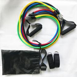 Widerstand der Eignung-11PCS versieht Zugseil-Latex-Stärken-Ausgangsgymnastik-Geräten-Gummiband-Übungs-Körpergewicht-Verlust-Eignung-Training mit einem Band