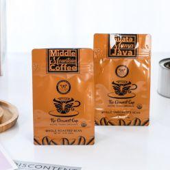 맞춤 구성 가능 재활용 가능 지퍼 잠금 생분해성 크래프트 종이 평평한 바닥입니다 커피 티 음식 플라스틱 포장 가방
