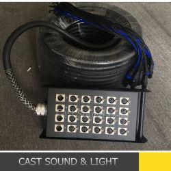 Custom audio XLR de 24 canales de cable de la serpiente con la etapa de verificación