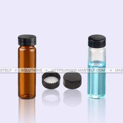 高性能液体クロマトグラフィー、GCの分析のための30mlのAutosamplerのガラスびんのマッチのAgilentのこはく色か明確なガラス器械