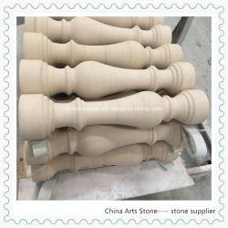 Bege/Branco Serppegiant mármore de Calcário para ladrilhos e Coluna de Moca