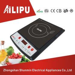 Сорт черного кристально чистый диск и нажмите кнопку управления высокого качества индукционная плитка ручной