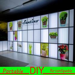 Mur modulaire portatif de l'exposition DEL Lightbox de salon