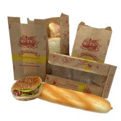 접착식 라벨 스티커와 로 새틴 티바그를 인쇄한 맞춤형 브랜드 창문 종이 가방 작은 가방 향신료 청소