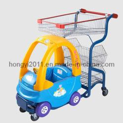 Boodschappenwagentjes van het Kind van het Boodschappenwagentje van de Baby van de Luxe van de supermarkt de Kleurrijke/het Winkelen van de Jonge geitjes van de Supermarkt/van de Kruidenierswinkel Grappig Karretje