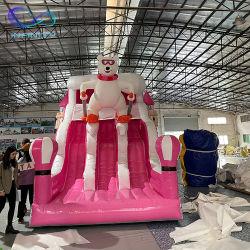 Urso Rosa Bouncer insufláveis temáticos deslize a almofada insuflável Combo Jumping deslize para venda
