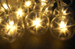 Цепь освещения со светодиодной подсветкой рождественские украшения лампа