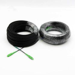 FTTH extérieur/intérieur 1 Core LSZH 100m G657A1 Câble de descente de base de fibre optique avec cordon de raccordement SC/connecteur APC en parallèle deux -2 Gfrp/acier -0,5 mm 1 Gfrp/-1 mm en acier