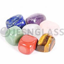 Mayorista de Energía a granel pulido 7 Color Crystal grava irregularmente Chakra de piedra, cristal, decoración de Navidad, regalo de boda, la decoración del hogar
