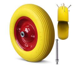 Pneus Rodas Wheelbarrow PU 4,80 / 4.00-8 Aro de Aço