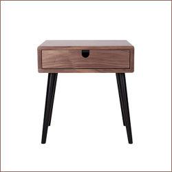Camera da letto di legno Nightstand, cassa di legno della mobilia del basamento di notte della base del piccolo del MDF hotel del tavolino da notte del commercio all'ingrosso per la camera da letto