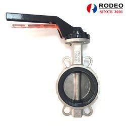 Полупроводниковая пластина из нержавеющей стали типа двухстворчатый клапан PTFE или EPDM ручки