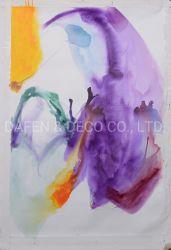 Resumo à mão de pintura em aquarela Parede Arte Decorativa