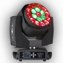 ズームレンズとの1つのRGBW LEDの大きい蜂の目L10 K10の回転に付きProlight 19PCS*15W 4つ