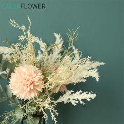 Blumen-Dekoration, die künstlichen Astilbe-Eukalyptuspompom-Blumen-Blumenstrauß Yc1002 Wedding ist